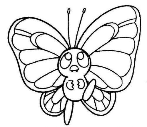 бабочка раскраска для детей11