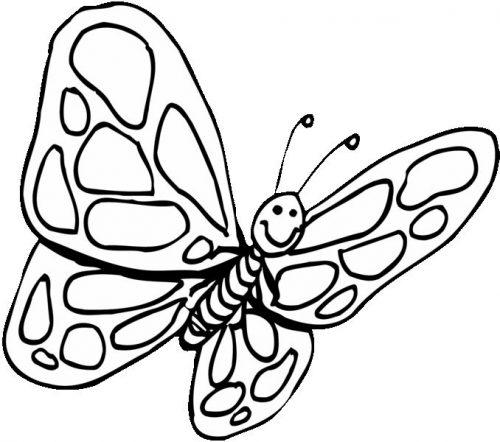 бабочка раскраска для детей16