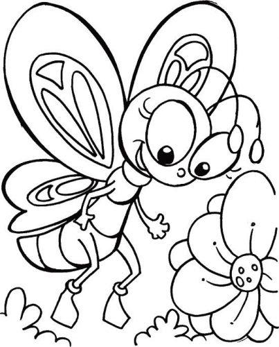 бабочка раскраска для детей5