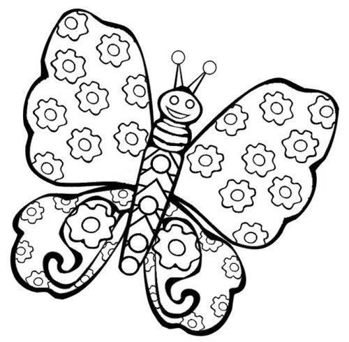 бабочка раскраска для детей7