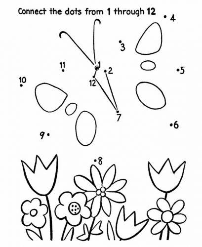 бабочка раскраска по цифрам2