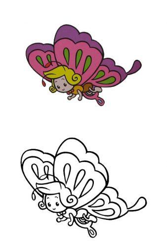 раскраска бабочка6