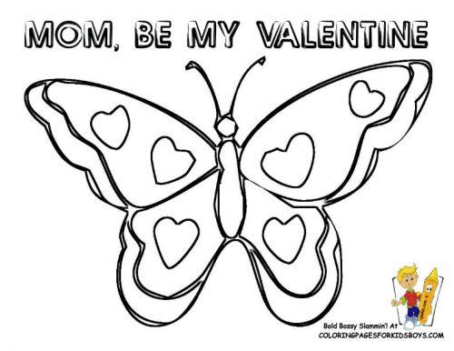 раскраска бабочка1