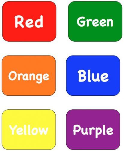 цвета по английски