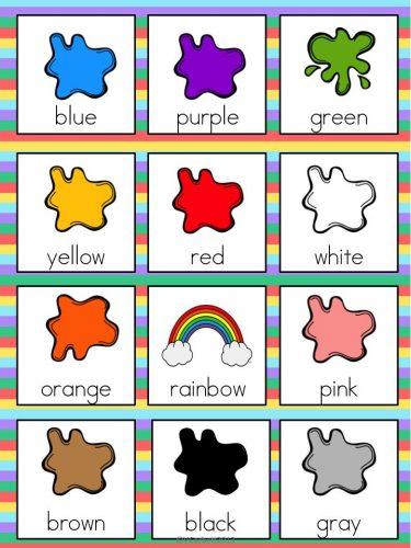 цвета на английском для детей4