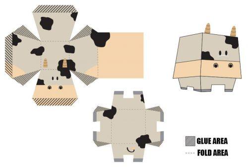 корова игрушка из бумаги