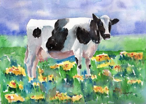 картинки коровы на лугу
