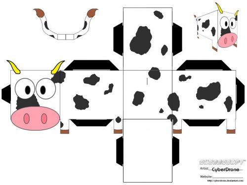 поделка корова4