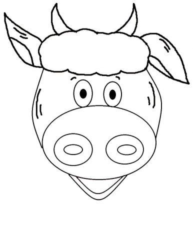 маска коровы для детей4