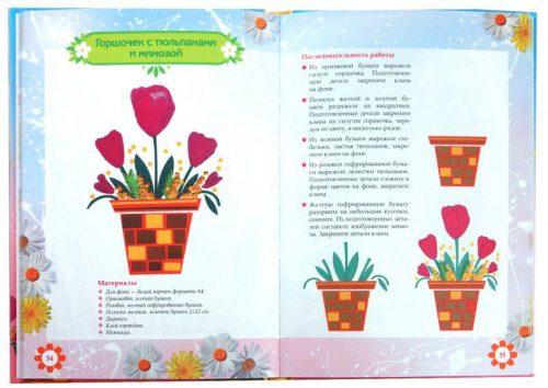 поделка тюльпаны и мимозы ко дню матери
