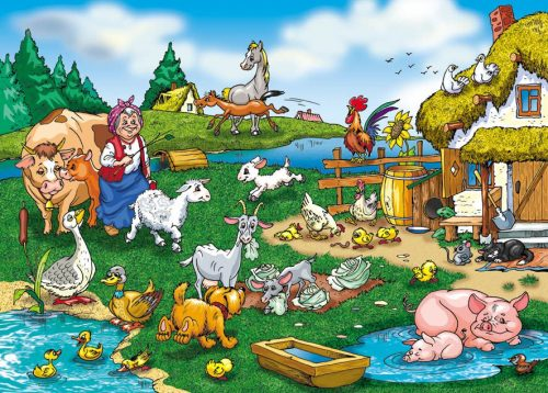 Дом в деревне картинка для детей
