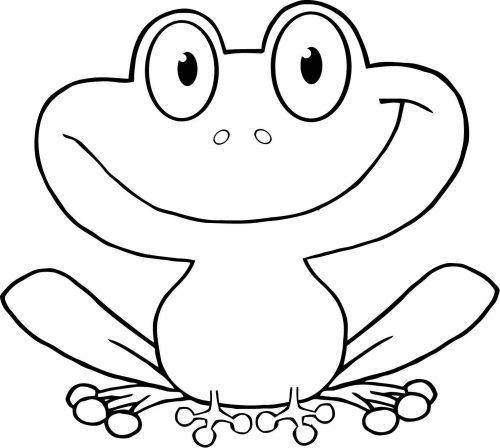 картинка лягушка раскраска для детей6