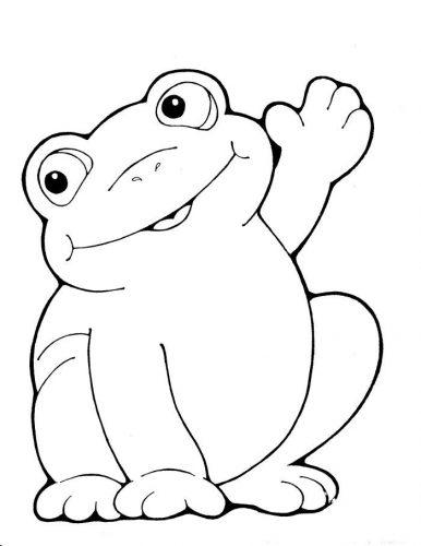 картинка лягушка раскраска для детей10