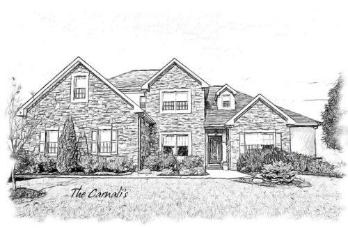 картинки дома нарисованные карандашом2