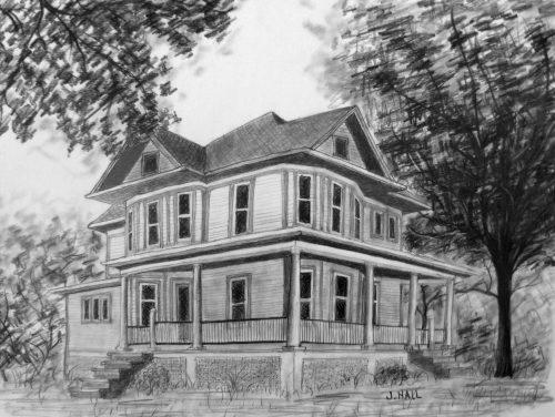 картинки дома нарисованные карандашом3
