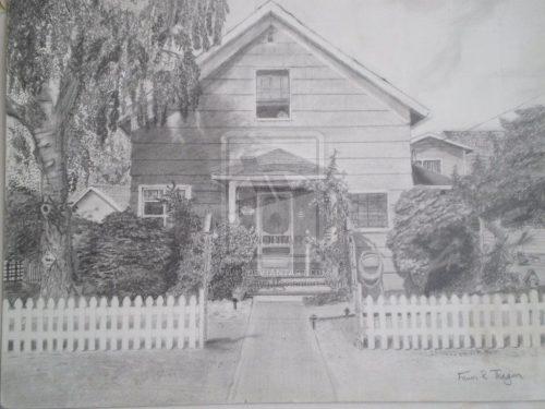 картинки дома нарисованные карандашом4