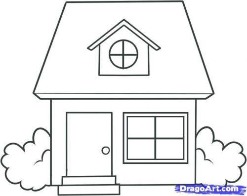 картинки домов раскраска