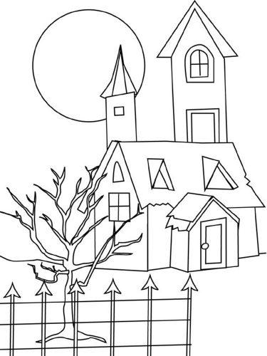 дом раскраска8