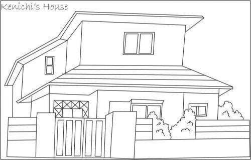 дом раскраска9