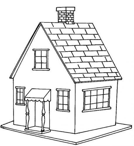 дом раскраска
