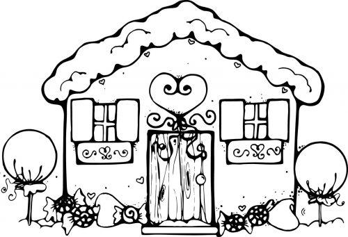 дом раскраска3