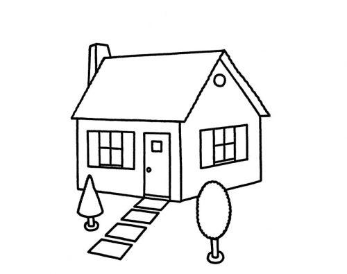 дом раскраска4