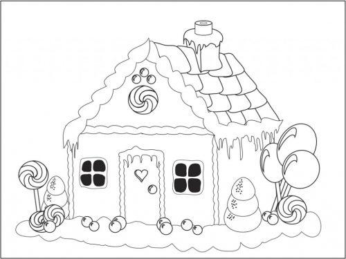 дом раскраска5