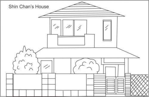 дом раскраска6