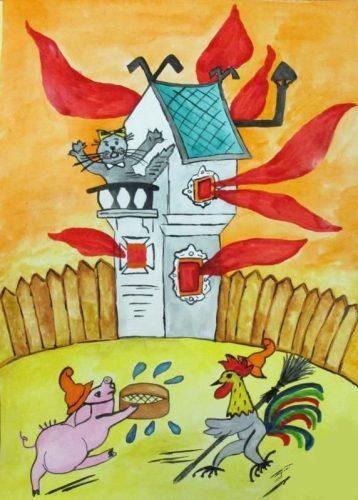 кошкин дом картинки для детей4