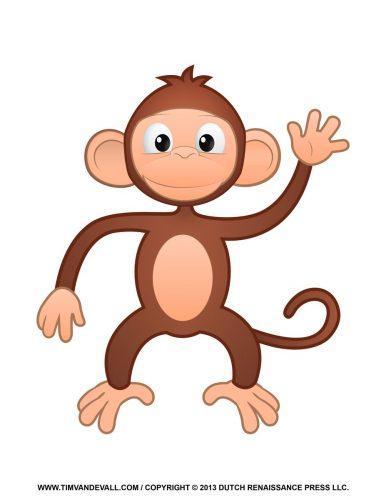 обезьянка для вырезания