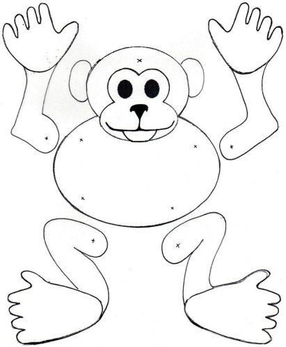 игрушка обезьяна из бумаги