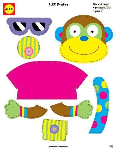 разноцветная обезьяна
