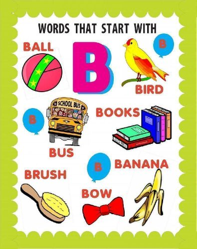 слова на английскую букву b