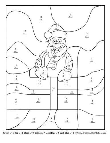 математические раскраски для 3 класса2