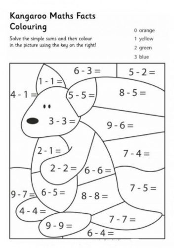 математические раскраски для 3 класса5