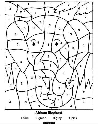 раскраски по математике