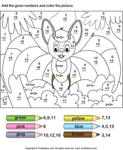 математические раскраски для 3 класса