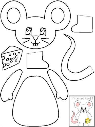 мышка из бумаги3
