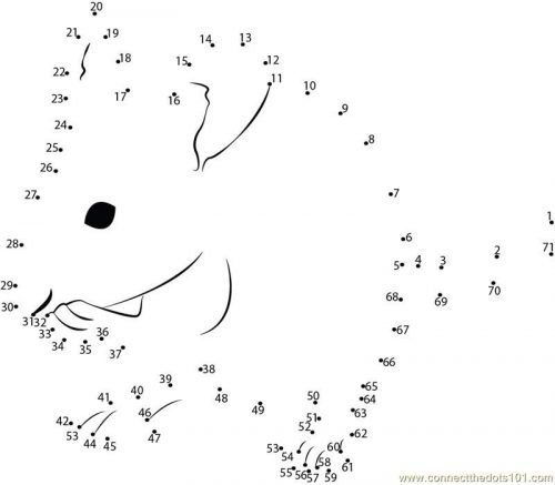 мышка по точкам раскраска