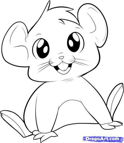 мышка раскраска9
