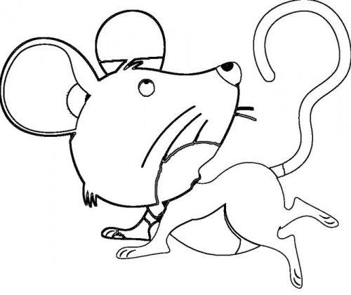 мышка раскраска