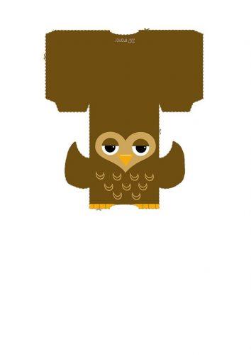 игрушка сова из бумаги