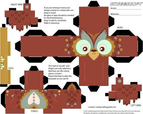 поделка сова для детей