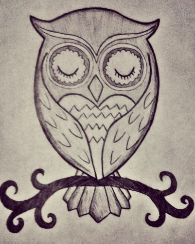 нарисованные совы картинки 5