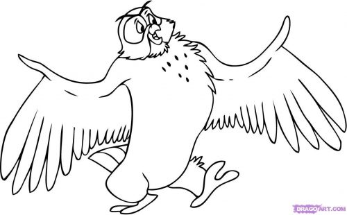 сова из винни пуха картинки раскраска