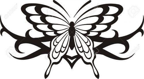 картинки бабочек для вырезания14
