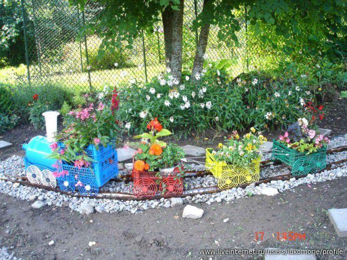 Поделки для сада дачи своими руками фото