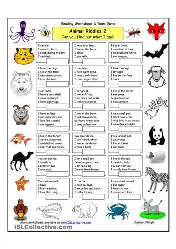 загадки на английском про животных