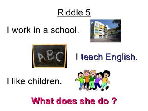 загадки на английском про профессии3