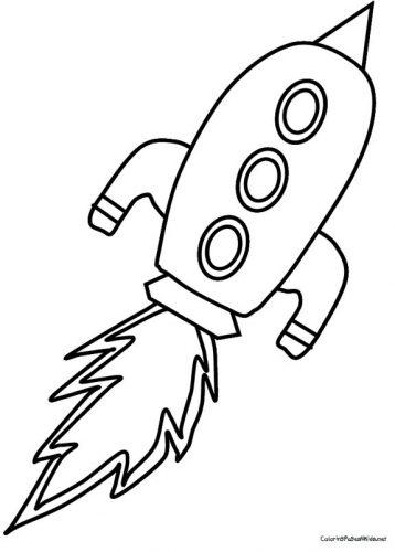 ракета раскраска22